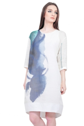 digital printed designer dress