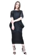 black folds designer dress