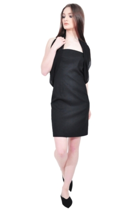 elegant black designer dress